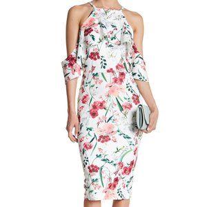 Alexia Admor White Floral Off The Shoulder Dress S